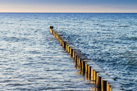 Breakwaters at baltic sea photo