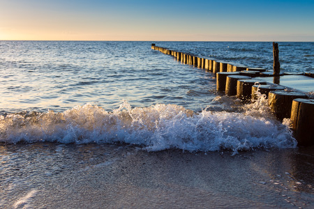 Breakwaters at baltic sea