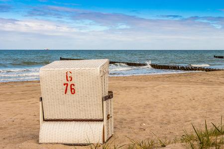 Beach Chair at baltic sea photo