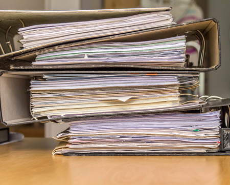 Stack of paper files photo