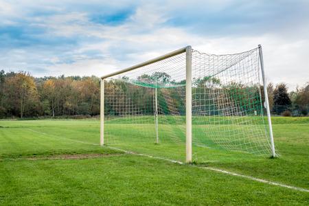 goalline: empty soccer goal