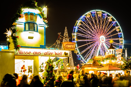 Ferris Wheel at Leipzig Christmas Market, Germany