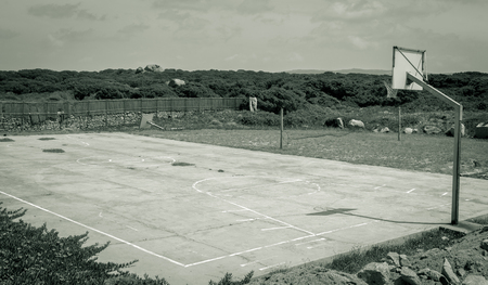 basketball game: Empty Basketball Court