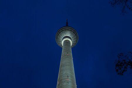 tv tower: Berlin TV Tower at Night