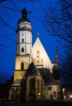 thomas: St Thomas Church, Leipzig Stock Photo