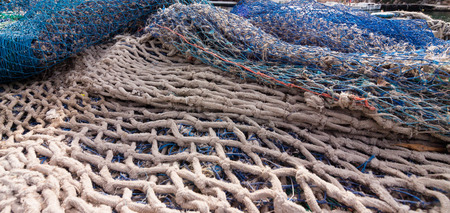 overfishing: Fishing Net at a harbor