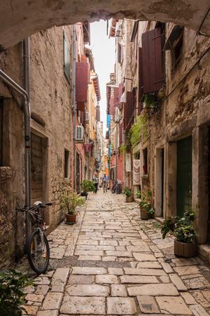 Small Cobblestone Alley in Rovinj