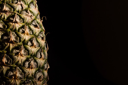 Pineapple macro with black background Standard-Bild