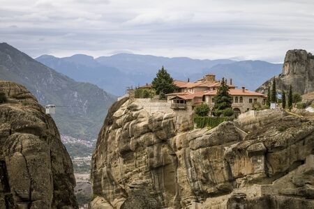 View to monastery of Holy Trinity at Meteora
