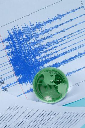 earth quake and world globe