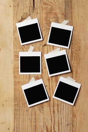 old photo: blank picture frames Stock Photo
