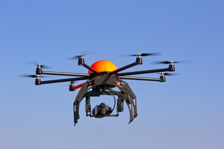 Flying with an octocopter for video and photo productions photo
