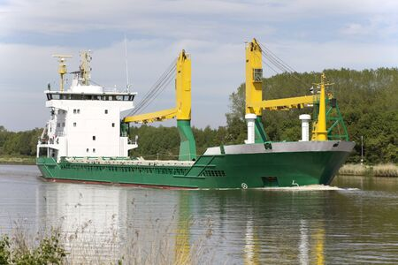 containership: Empty Containership on the Nord-Ostseekanal in Germany