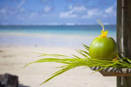 Coconut at the beach - Mauritius