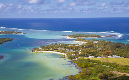 Helicopter Flight over the island of Mauritius. Stock Photo - 52748967
