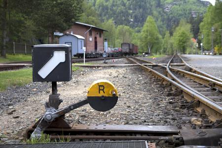 Railway station in the Zittau mountains Foto de archivo