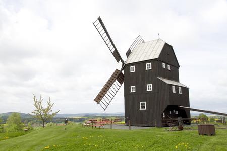 millstone: wind mill in germany Stock Photo