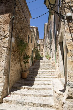 Mallorca, Spain - impression of Fornaltux. The village is known as the most beautiful village in Mallorca.