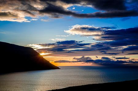 A never ending sunset by midnight sun