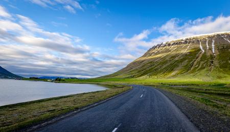 Panoramic Icelandic nature at westfjords