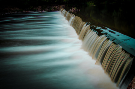 Flow of water of a weir of Germany