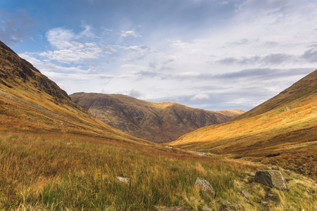 Autumn mountain panorama Glencoe - Scotland
