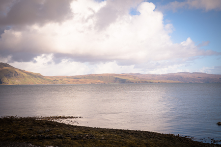 Clouds over mountains at Isle of Mull
