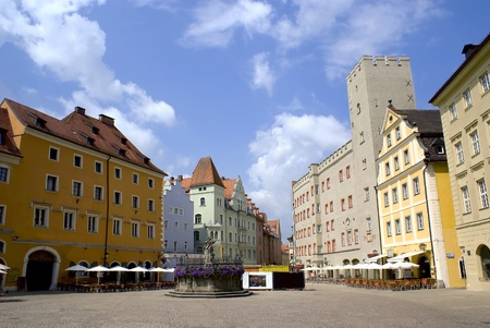regensburg: a public place in the hostoric city of Regensburg