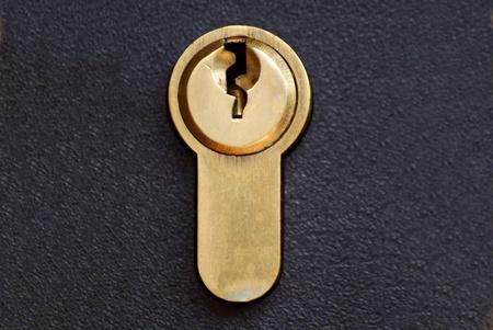 a cylinder lock on black background Stock Photo - 19534393