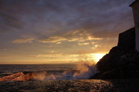 카 모글리에서 바다에 일몰 스톡 콘텐츠