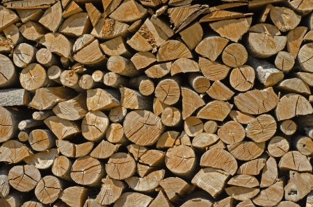 accepts: the wood is ready to be burned Stock Photo