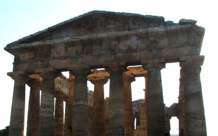 Roman temple at Paestum in the province of Salerno