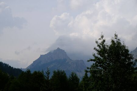 summer landscapes of the Piedmontese mountains, in Italy