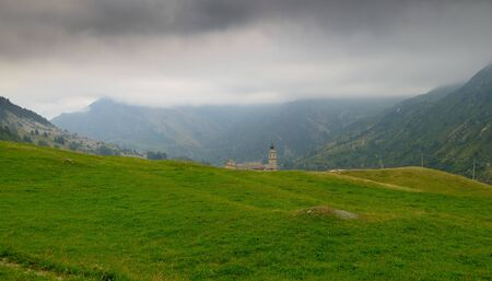 the sanctuary of Castelmagno, a medieval stronghold on the mountains of Cuneo, in Piedmont