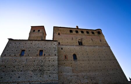 medieval castle of Serralunga d'alba in the heart of the Piedmontese Langhe, in Italy