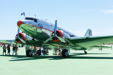 Dayton, Ohio, USA - June 19, 2016 The Vectren Dayton Air Show, Performers and static displays. Editorial