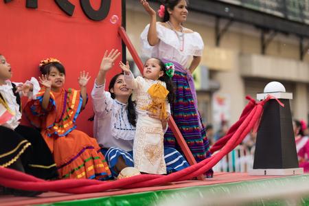 Matamoros, Tamaulipas, Mexico - February 24, 2018, Desfile Fiestas Mexicanas is part of the Charro Days Fiesta - Fiestas Mexicanas, A bi-national festival between USA and Mexico. Éditoriale