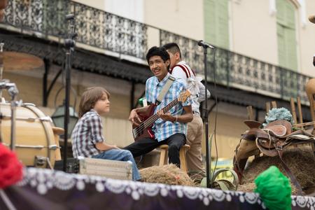 Matamoros, Tamaulipas, Mexico - February 24, 2018, Desfile Fiestas Mexicanas is part of the Charro Days Fiesta - Fiestas Mexicanas, A bi-national festival between USA and Mexico. Editöryel