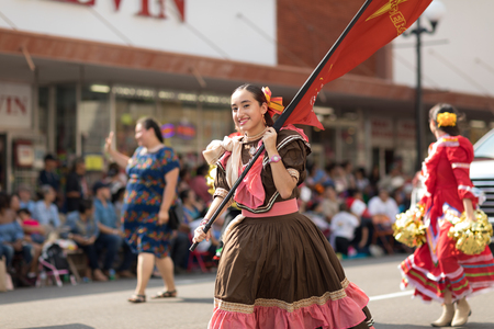 Brownsville, Texas, USA - February 24, 2018, Grand International Parade is part of the Charro Days Fiesta - Fiestas Mexicanas, A bi-national festival between USA and Mexico. Editorial