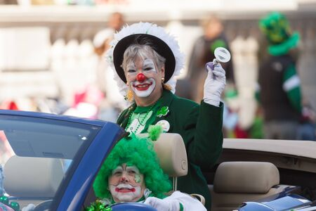 Indianapolis, Indiana, USA - March 17, 2016, The St. Patrick's Day Parade is a cultural and religious celebration from Ireland in honor of  Saint Patrick. Editorial