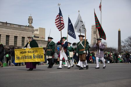 Indianapolis, indiana, USA - March 16, 2018, The St. Patrick's Day Parade is a cultural and religious celebration from Ireland in honor of  Saint Patrick.