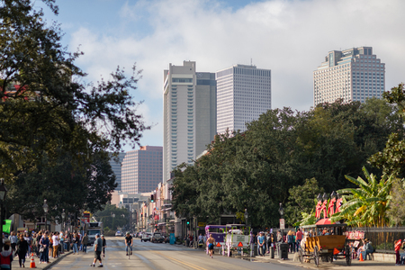 New Orleans Skyline as seen from Decatur Street Editorial