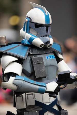 Houston, Texas, USA - November 22, 2018 The H-E-B Thanksgiving Day Parade, People dress up as star wars characters, storm troopers Reklamní fotografie - 116970460