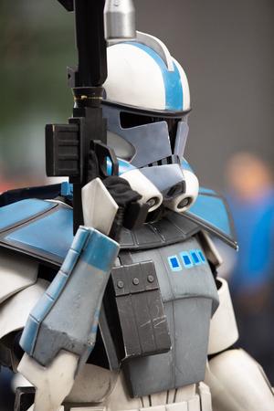 Houston, Texas, Estados Unidos - 22 de noviembre de 2018, el Desfile del Día de Acción de Gracias de HEB, la gente se disfraza de personajes de Star Wars, Storm Troopers