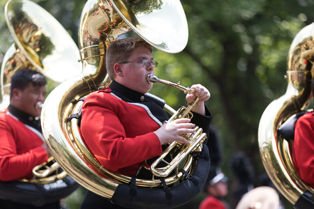 Washington, D.C., USA - July 4, 2018, The National Independence Day Parade, The Cabot High School Marching Band from Cabot, Arkansas Editorial