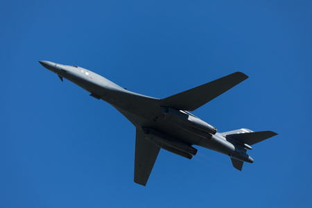Rockwell B-1 Lancer performing a high speed low level past