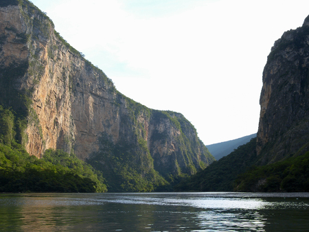 Sumidero Canyon, located in the mexican state of Chiapas, Chicoasén Dam fills the canyon.