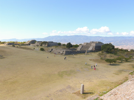 Monte Alban, Oaxaca, Mexico - Zapotec archaeological site in the southern Mexican state of Oaxaca