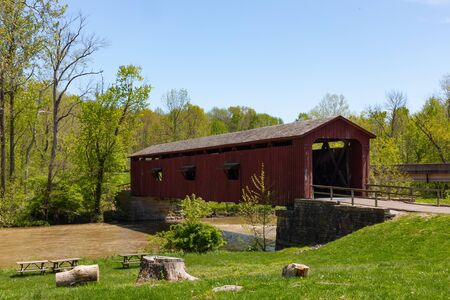 Old Covered Bridge over the Mill Creek