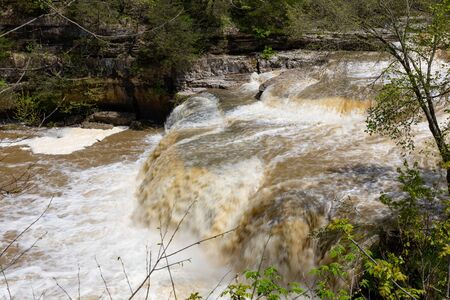 Cataract Falls on the Mill Creek, after heavy rains